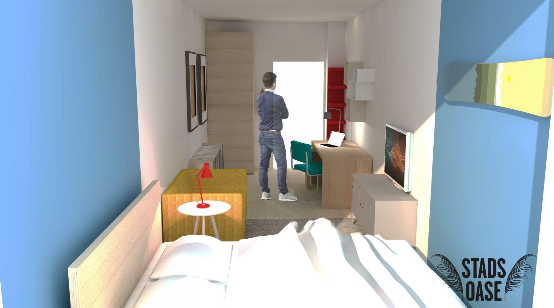 Kamer vanuit raam (mogelijke indeling)